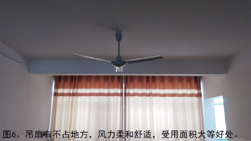 图6、吊扇有不占地方,风力柔和舒适,受用面积大等好处。.jpg