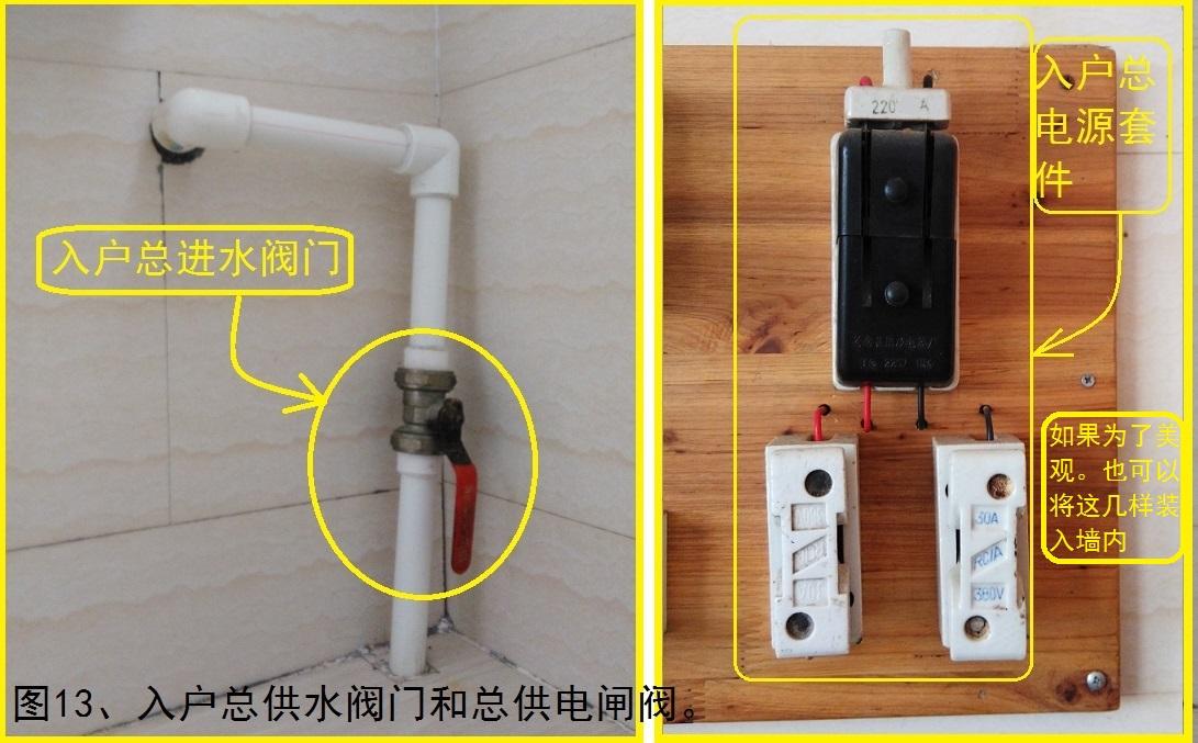 图13、入户总供水阀门和总供电闸阀。.jpg